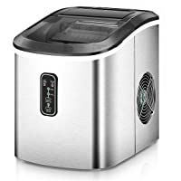 Euhomy Ice Maker Machine Countertop Makes 26 Lbs Ice In 24 Hrs Ice