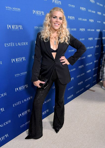 Busy Philipps attends the PORTER Incredible Women Gala 2018.