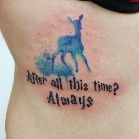Watercolor Tattoo Patronus Des Harry Potter Deer Tattoo Deer Tattoo Harry Potter Tattoos Harry Potter Tattoo