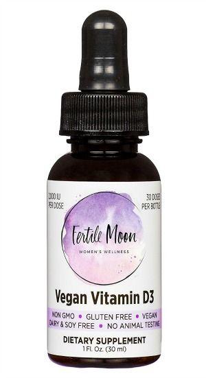 Liquid Vegan Vitamin D3 By Fertile Moon Vegan Vitamins Vegan Vitamin D Vitamin Brands