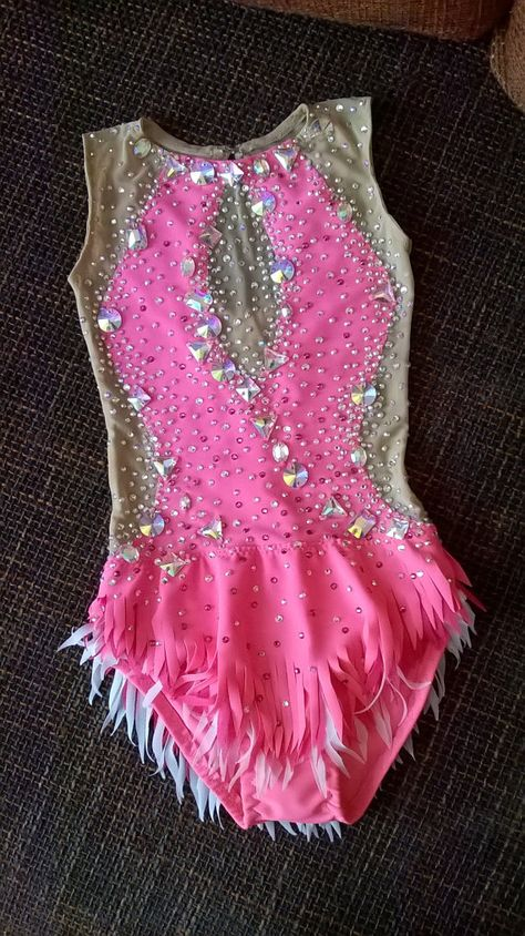 Made To Measure Rhythmic Gymnastic Leotard Pink Combine Your Colors 3000+ crystals