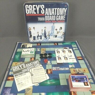 Grey S Anatomy Trivia Board Game Tin 100 Complete 2007 Cardinal Board Games Trivia Board Games Greys Anatomy Facts