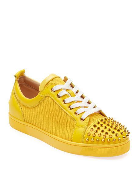 reputable site a734d 62a27 Christian Louboutin Men's Louis Junior Spiked Sneakers | MEN ...