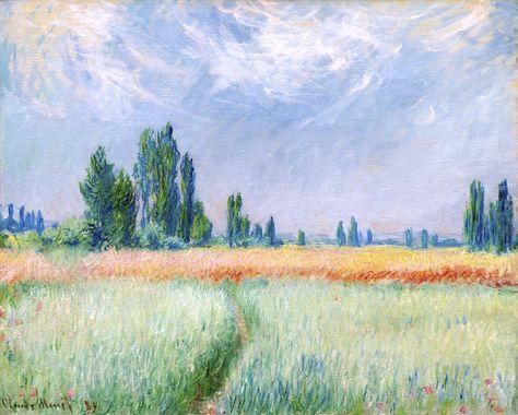 Champ De Ble By Claude Monet France Pinturas De Monet Pinturas Impressionistas Claude Monet