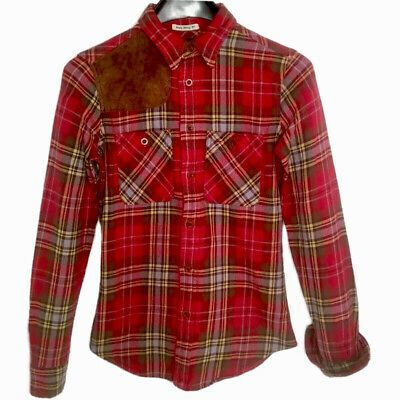 Ralph Lauren Rugby Shirt Womens Sz 0 Red Plaid Skinny Fit Suede Patch Flannel Ebay In 2020 Womens Plaid Flannel Womens Flannel Shirt Ralph Lauren Rugby Shirt