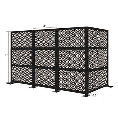E Joy 6 Ft H X 12 Ft W Freestanding Modular Metal Privacy Screen In 2020 Garden Fence Panels Decorative Fence Panels