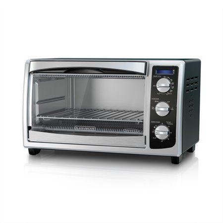 Black Decker 6 Slice Toaster Oven Black Silver To1675b Walmart