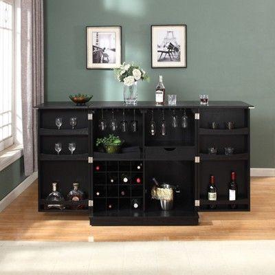 Fifth Avenue Fold Away Bar Cabinet Home Bar Furniture Dining Room Makeover Diy Lock