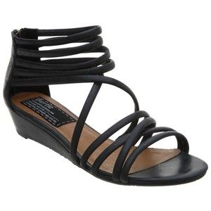 low wedge black strappy sandals   Shoes   Shoes, Strappy