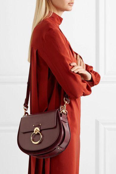 0ae6d48b10 Chloé | Tess leather and suede shoulder bag | NET-A-PORTER.COM ...