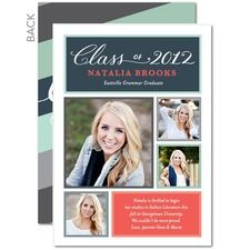 High School Graduation Announcements 2020.Snapshot Save For Later Graduation Announcements
