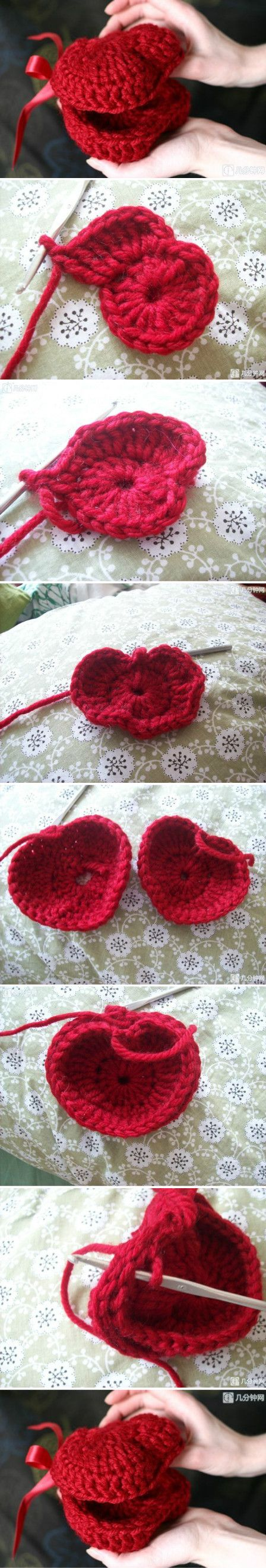 ♥ⓛⓞⓥⓔ♥ Heart Box.. #love #crochet #hearts and #valentines.. 的照片 - 微相册