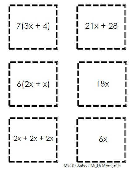 Pin On Grade Sheet Template Worksheets Equivalent expressions worksheet 7th grade