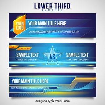 lower third vectors photos and psd files free | Lower thirds | Lower