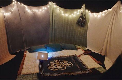 Trampoline Bed Fort