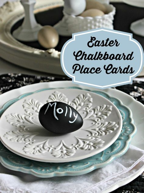 Easter Chalkboard Place Cards DIY - Live Creatively Inspired