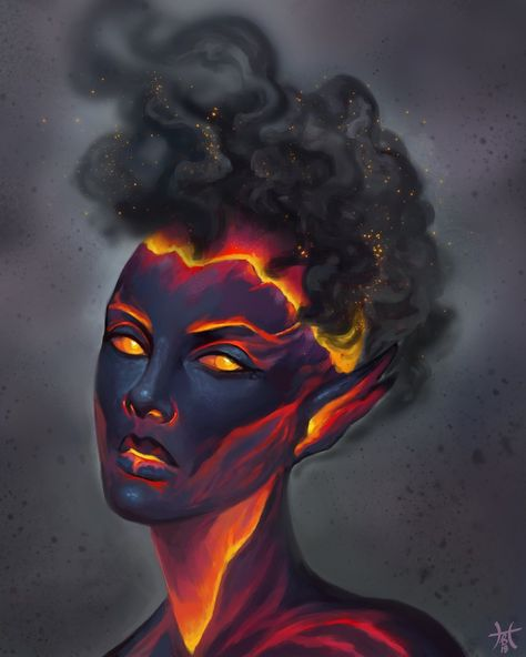 It's been a number of years now but I use to draw elemental characters a lot. I decided to update them again but changed fire to lava. It feels more interesting to me and something I can build off of if I keep redoing these pieces.pic.twitter.com/nWJRQTJSMJ