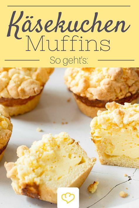 Kleine Seelenschmeichler Käsekuchen-Muffins mit Streuseln - chefkoch käsekuchen muffins