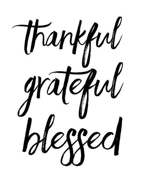 Thankful Grateful Blessed Raquel Dorsey, 30 Free Fall Printables via A Blissful Nest