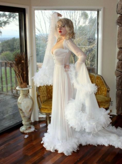 Bridal Silk Robe Champagne Chiffon Bridal Lingerie Wedding Robe ...