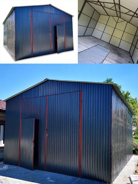 Garaz Blaszany Z Dachem Dwuspadowym Hale Wiaty 5x7 8085042730 Oficjalne Archiwum Allegro Outdoor Decor Garage Doors Outdoor
