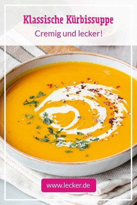 Im #Herbst genießen wir so gerne Suppen und Eintöpfe. Kürbis eignet sich dafür hervorragend, da er für extra Cremigkeit und einen nussigen und würzigen Geschmack sorgt. In unserem Video zeigen wir dir, wie einfach klassische Kürbissuppe gelingt und wie du sie lecker verfeinern kannst. #kürbissuppe #kürbis #suppenrezepte #kürbisrezepte #rezepte #rezeptideen #suppen #cremig #einfacherezepte