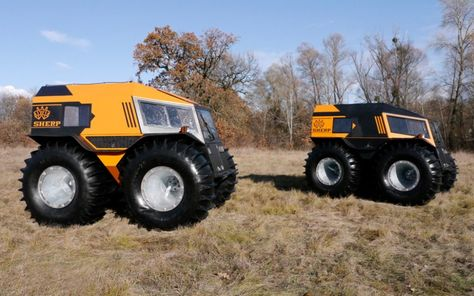 the sherp ATV is an amphibious vehicle for plowing through any terrain Scooters, Aigle Animal, Hors Route, Amphibious Vehicle, Flying Vehicles, Armored Vehicles, Atv Vehicles, Snow Vehicles, Military Vehicles