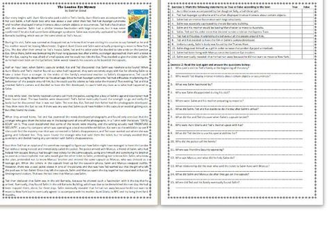 The London Eye Mystery  - by Siobhan Dowd - GCSE Reading Comprehension