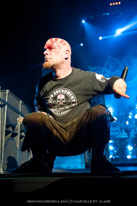 Ivan Moody - Five Finger Death Punch - at Gwinnett Arena, Duluth GA - 11 Oct 2014