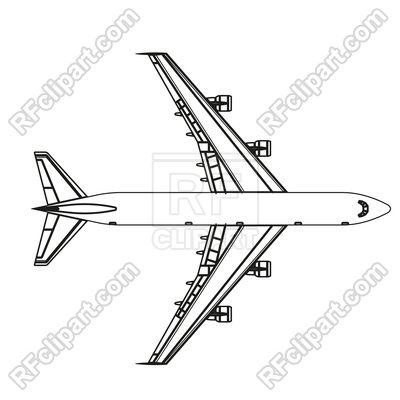 Airplane Outline Icon 188307 Download Royalty Free Vector