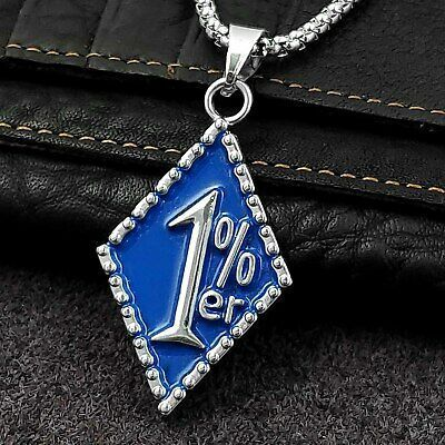 One Percent 1 Er Pendant Chain Necklace Man 316l Stainless Biker Jewelry Men Necklace Jewelry