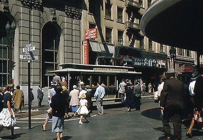SAN FRANCISCO 1940s 1950s Lot of original photos from slides on cd