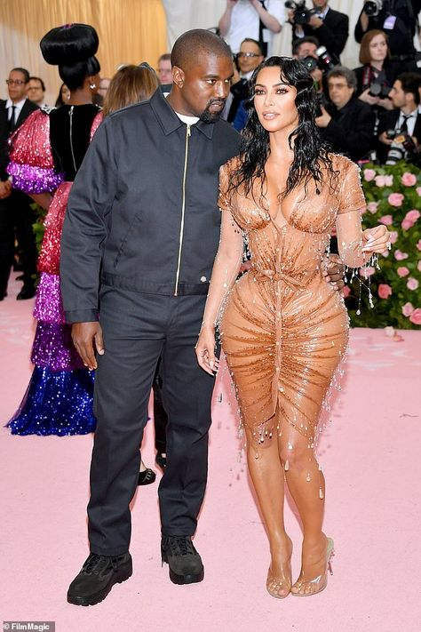 On the way: Kim Kardashian and Kanye West's (pictured together at the Met Gala on Monday) surrogate is in labor