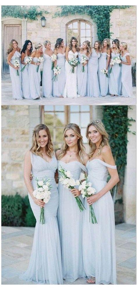 Different Bridesmaid Dresses, Light Blue Bridesmaid Dresses, Bridesmaid Dresses 2018, Mismatched Bridesmaids Blue, Bridal Dresses, Beach Wedding Bridesmaids, Affordable Bridesmaid Dresses, Bridesmaid Dress Colors, Light Blue Dresses