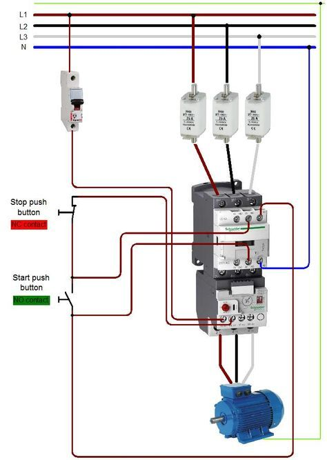 Wiring 20a 20contactor For Contactor And Overload Wiring Diagr Electrical Circuit Diagram Basic Electrical Wiring Electrical Wiring