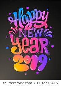 Happy New Year Lettering Design 53