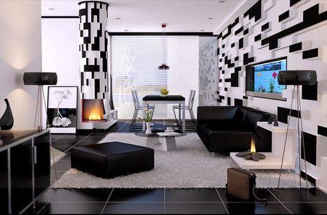 Décoration Salon En Noir Et Blanc Décoration Salon Décor