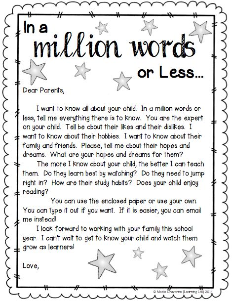 Best Parents Newsletters  Letters Images On