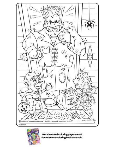 Halloween Frankenstein Coloring Page Coloring Page Crayola Com Coloring Pages Free Coloring Pages Fall Coloring Pages