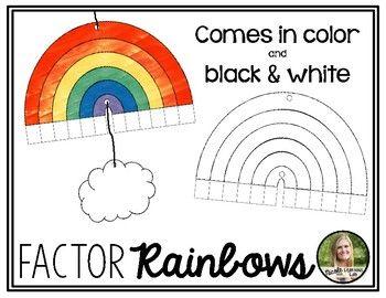 Factor Rainbows Multiplication Factors By Learning Lab Teachers Pay Teachers Rainbow Multiplication Teachers Pay Teachers