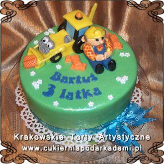 148b0ce90ec975 Tort z Bobem Budowniczym i koparką. Bob builder cake with excavator. | Torty  dla dzieci dla chłopców | Tort, Torty weselne i Dla dzieci