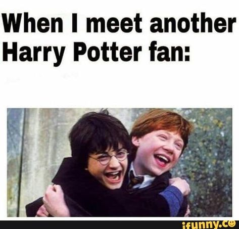When I meet another Harry Potter fan: – popular memes on the site iFunny.co #harrypotter #movies #when #meet #harry #potter #pic