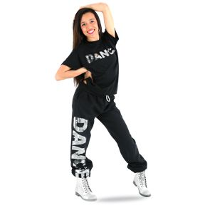 Gia Mia Womens Graffiti Hip Hop Dance Costume Recital Performance Jogger Harem Pant Legging
