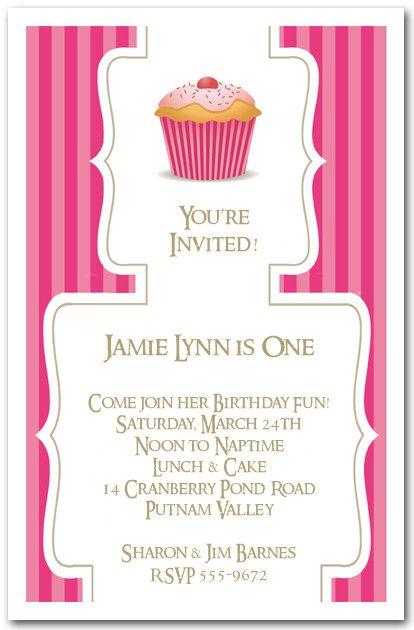 Cupcake Birthday Invitations Template