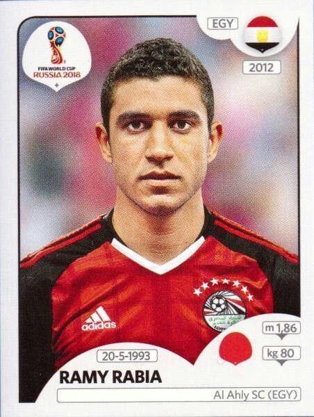 Sticker 83 Tarek Hamed Panini WM 2018 World Cup Russia Ägypten