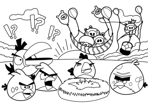 image relating to Angry Birds Printable Coloring Pages referred to as Pinterest