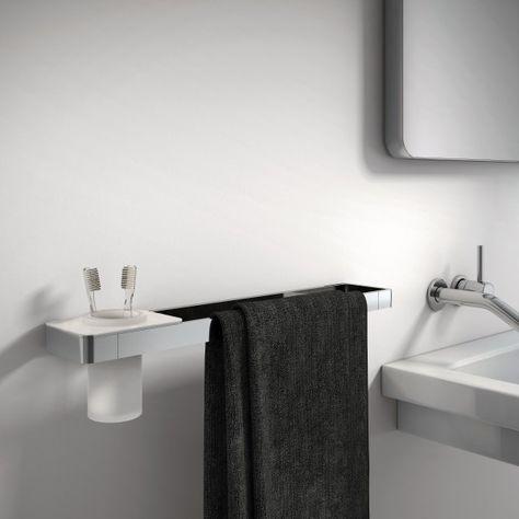 Lussuoso Porta Asciugamani Sdlhh60 Serie Linear Bicchiere
