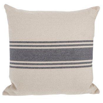 Cream Gray Striped Pillow 20 X 20 In 2020 Stripe Pillow Buffalo Check Pillows Pillows
