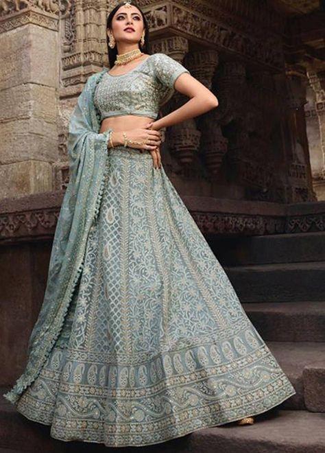 Chikankari Blouse with net dupatta and Silk lehenga with gold trims Indian Lenhga Lenga Choli Indian Dress Anarkali Suit Lehengha choli sari