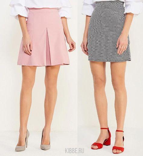 простые прямые юбки